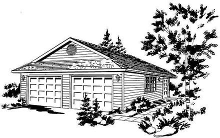 Contemporary Elevation of Plan 58885