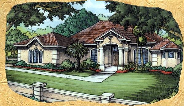 Florida House Plan 58920 Elevation