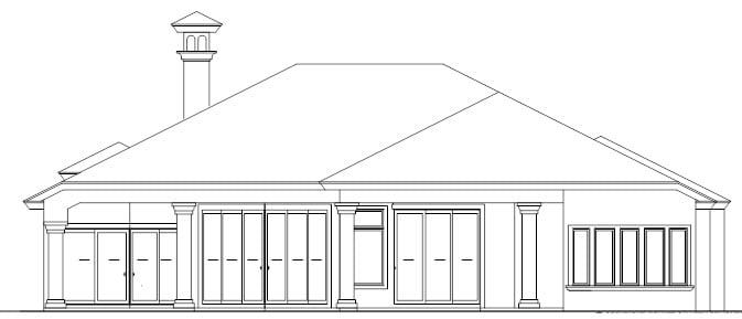Florida House Plan 58923 Rear Elevation