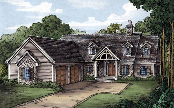 European House Plan 58942 Elevation