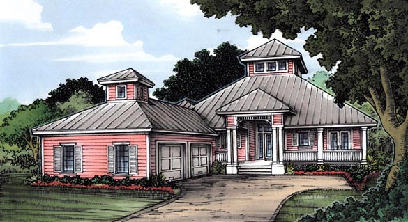 Florida House Plan 58951 Elevation