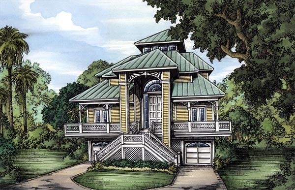 Florida House Plan 58952 Elevation