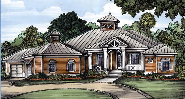 Florida House Plan 58953 Elevation