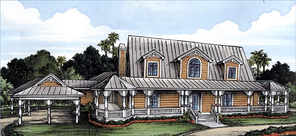 Florida House Plan 58954 Elevation
