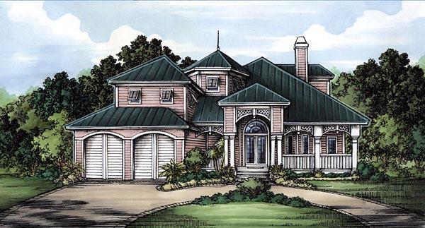 Florida House Plan 58955 Elevation