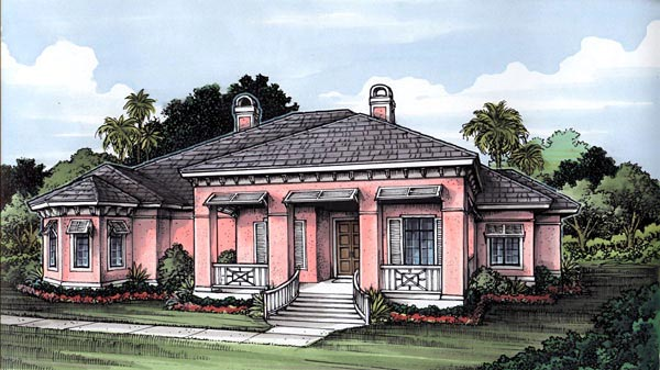 Florida House Plan 58961 Elevation