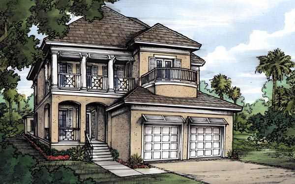 Florida House Plan 58963 Elevation