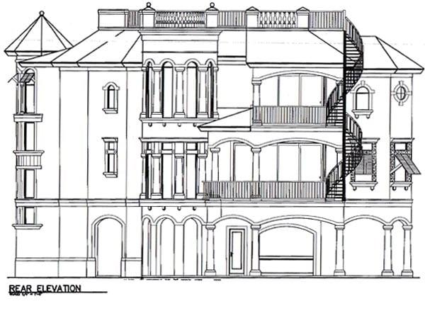 Florida House Plan 58973 Rear Elevation