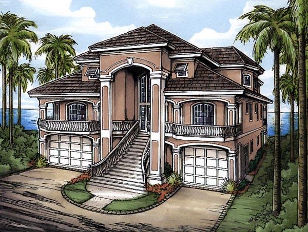 Florida House Plan 58975 Elevation