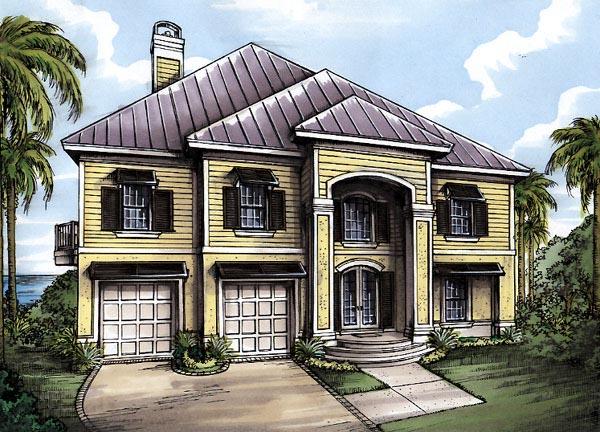 Florida House Plan 58976 Elevation