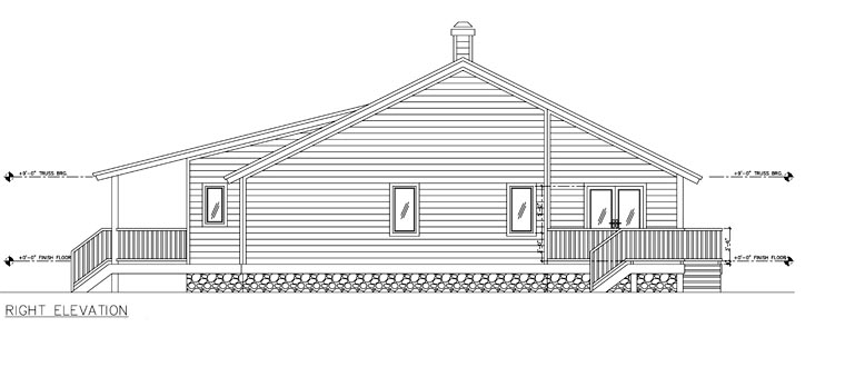 One-Story, Ranch House Plan 58987 with 3 Beds, 4 Baths, 2 Car Garage Picture 2