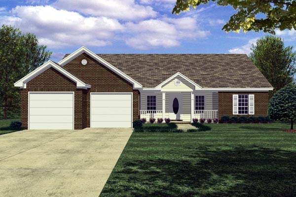 Cottage Ranch Traditional House Plan 59003 Elevation