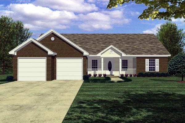 Cottage Ranch Traditional House Plan 59004 Elevation