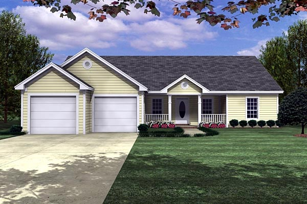 Ranch Traditional House Plan 59006 Elevation