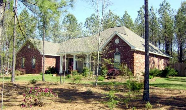 European, Ranch, Traditional House Plan 59008 with 3 Beds, 2 Baths, 2 Car Garage Picture 1
