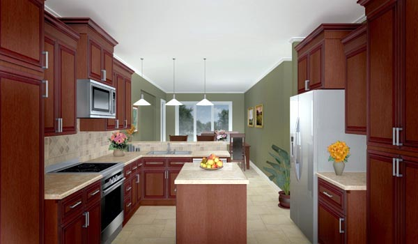 Country, Farmhouse, Ranch, Southern House Plan 59018 with 3 Beds, 3 Baths, 2 Car Garage Picture 2