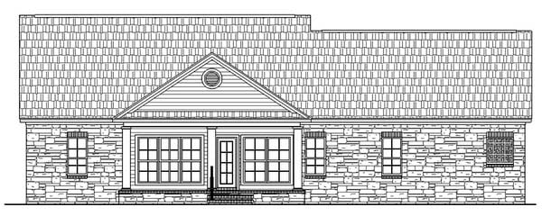 Country Ranch Traditional House Plan 59024 Rear Elevation