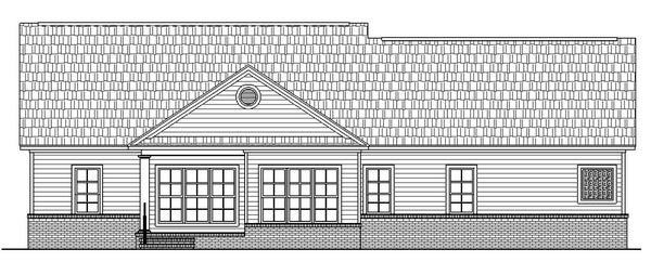 Country Ranch Traditional House Plan 59025 Rear Elevation