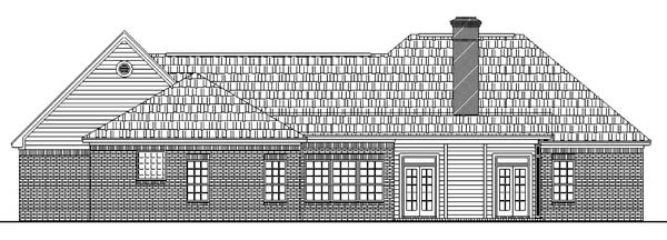 European Ranch Traditional House Plan 59026 Rear Elevation