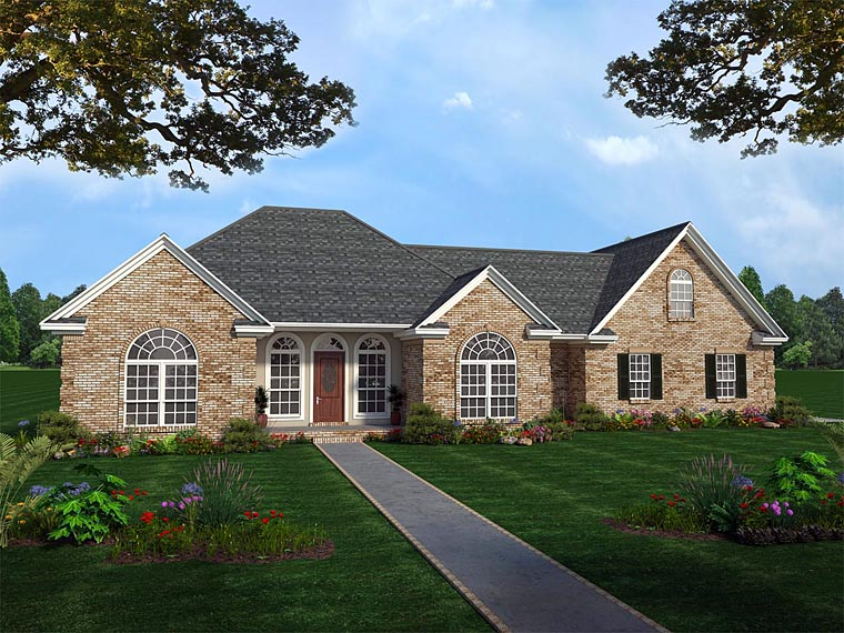 European French Country Ranch Traditional House Plan 59031 Elevation