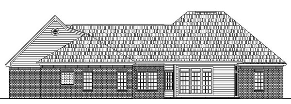European French Country Ranch Traditional House Plan 59031 Rear Elevation