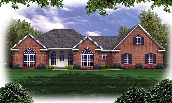European French Country Ranch Traditional House Plan 59032 Elevation