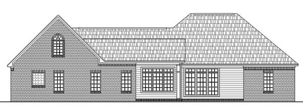 European French Country Ranch Traditional House Plan 59032 Rear Elevation