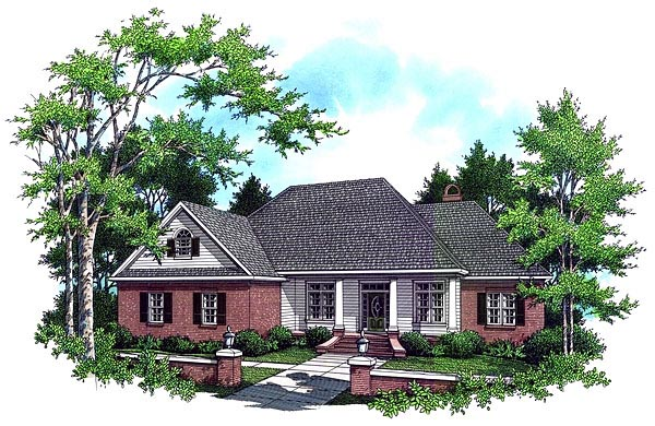 Country European French Country Traditional House Plan 59034 Elevation