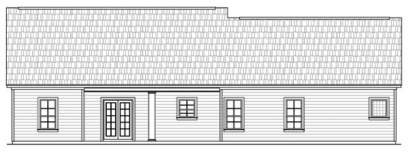 Country European Ranch Traditional House Plan 59035 Rear Elevation