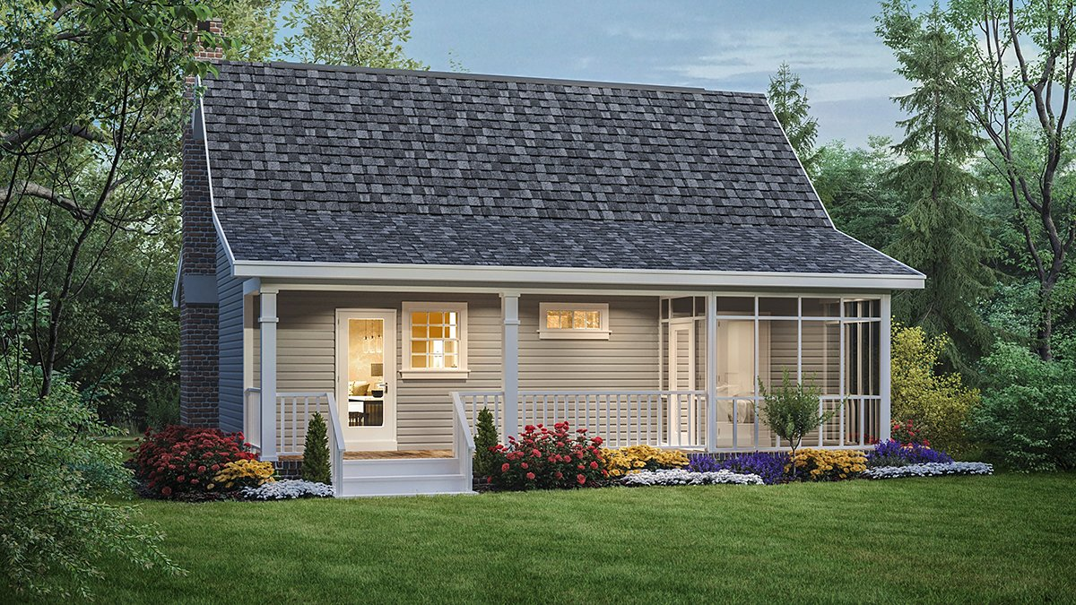 Country Southern House Plan 59040 Rear Elevation