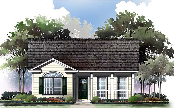 Elevation of Ranch   Traditional   House Plan 59043
