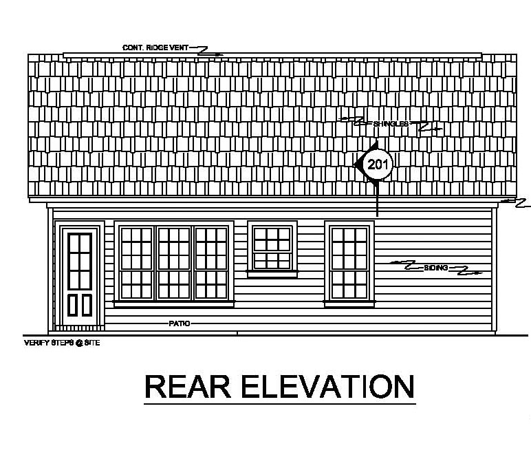 Rear Elevation of Ranch   Traditional   House Plan 59043