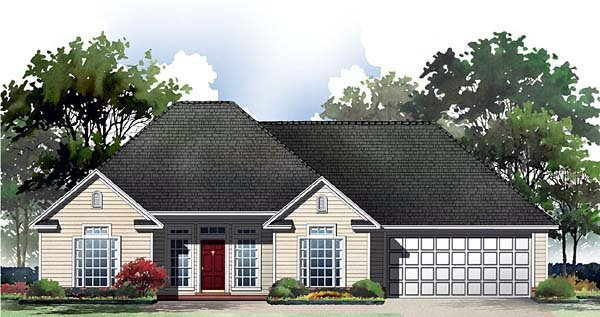 Bungalow European Ranch Traditional House Plan 59047 Elevation