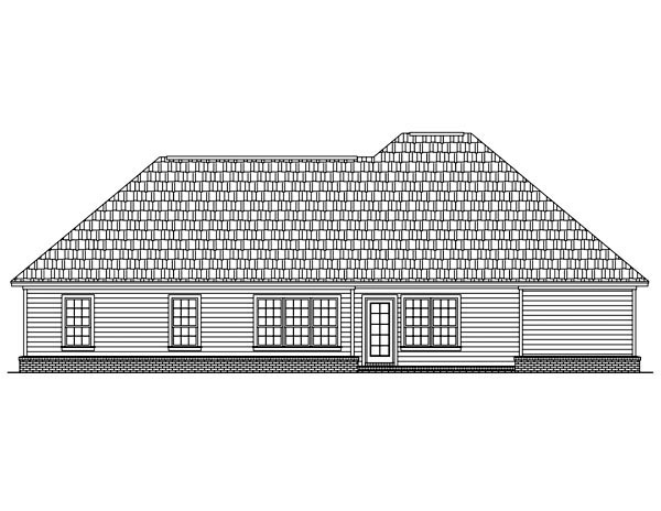 Bungalow European Ranch Traditional House Plan 59047 Rear Elevation