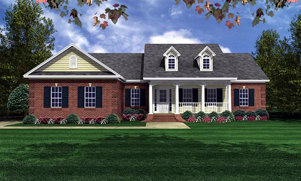 Country Traditional House Plan 59050 Elevation