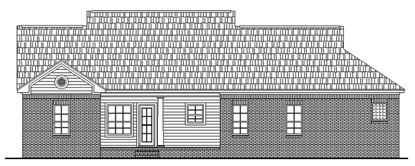 Cape Cod Country Ranch Traditional House Plan 59051 Rear Elevation