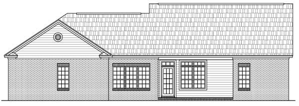 Cape Cod Ranch Traditional House Plan 59052 Rear Elevation