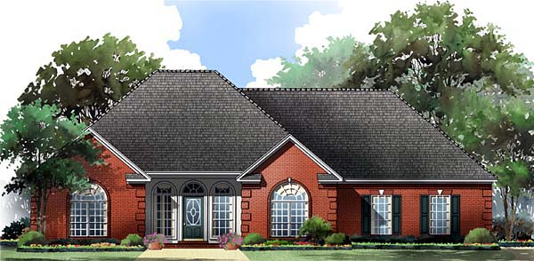 Cottage Country European Traditional House Plan 59055 Elevation