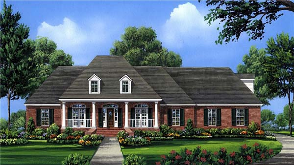 Colonial Country European Southern House Plan 59075