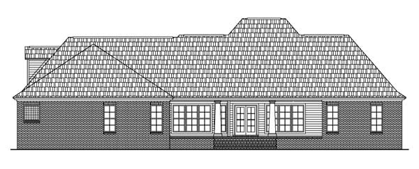 Colonial Country European Southern House Plan 59075 Rear Elevation