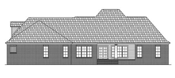 Colonial European Traditional House Plan 59079 Rear Elevation