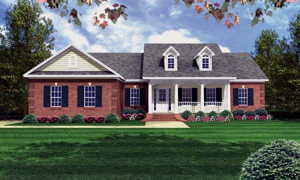 Country Ranch Southern Traditional House Plan 59080 Elevation
