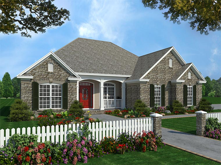 Country Craftsman European Traditional House Plan 59082 Elevation