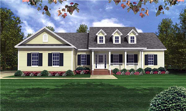 Elevation of Country   Traditional   House Plan 59085