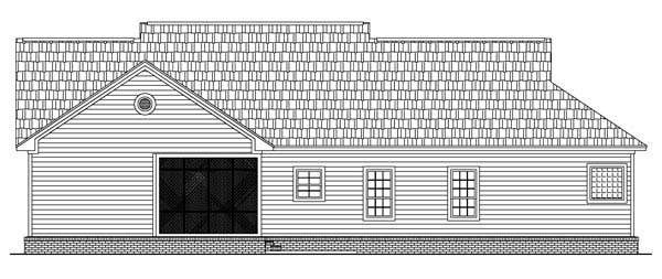 Rear Elevation of Country   Traditional   House Plan 59085