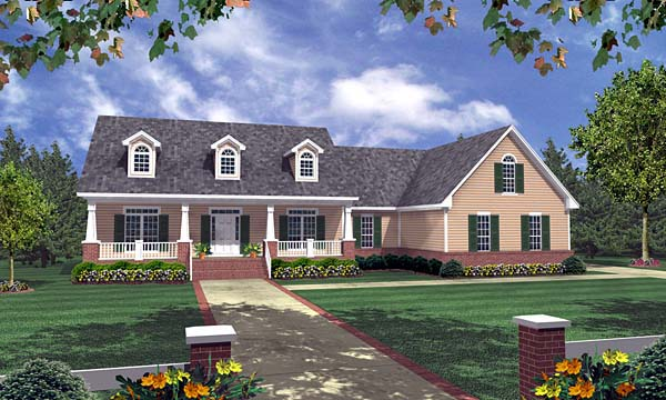 Elevation of Craftsman   Ranch   Traditional   House Plan 59089
