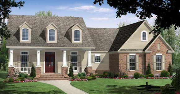 Bungalow, Craftsman, Traditional House Plan 59093 with 4 Beds, 3 Baths, 2 Car Garage Elevation