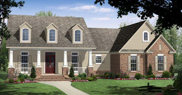 Bungalow Craftsman Traditional House Plan 59093 Elevation
