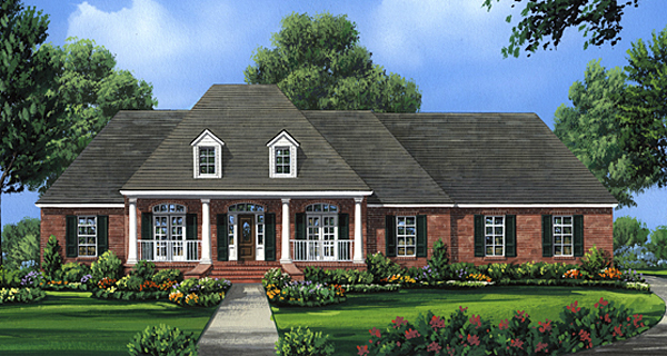 Country European Southern House Plan 59100 Elevation