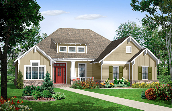 Bungalow craftsman european house plan 59101 for European bungalow house plans